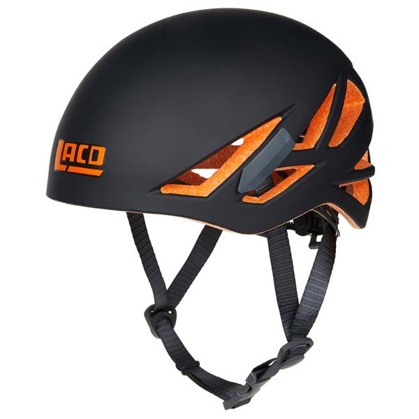 Kaciga LACD Defender RX crno-narančasta je lagana alpinistička, penjačka, ferata i planinarska kaciga, udobna, prozračena i minimalne cijene