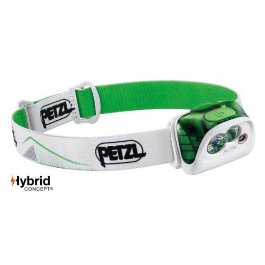Petzl Actik - 350 lumena - bijelo zelena