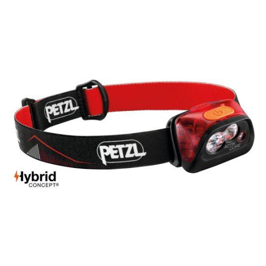 Petzl Actik Core - 450 lumena - crvena
